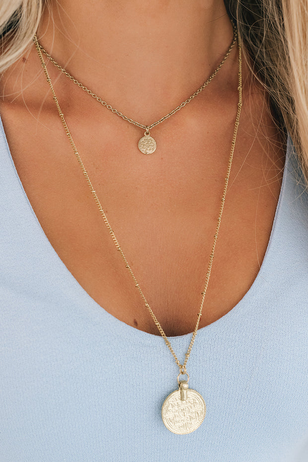 In The Flow Layered Necklace (Gold) - NanaMacs