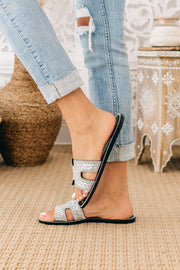 Iced Out Rhinestone Jelly Sandals (Black Jelly) - NanaMacs