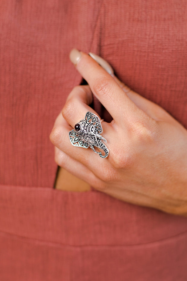 Slon Elephant Ring (Silver)