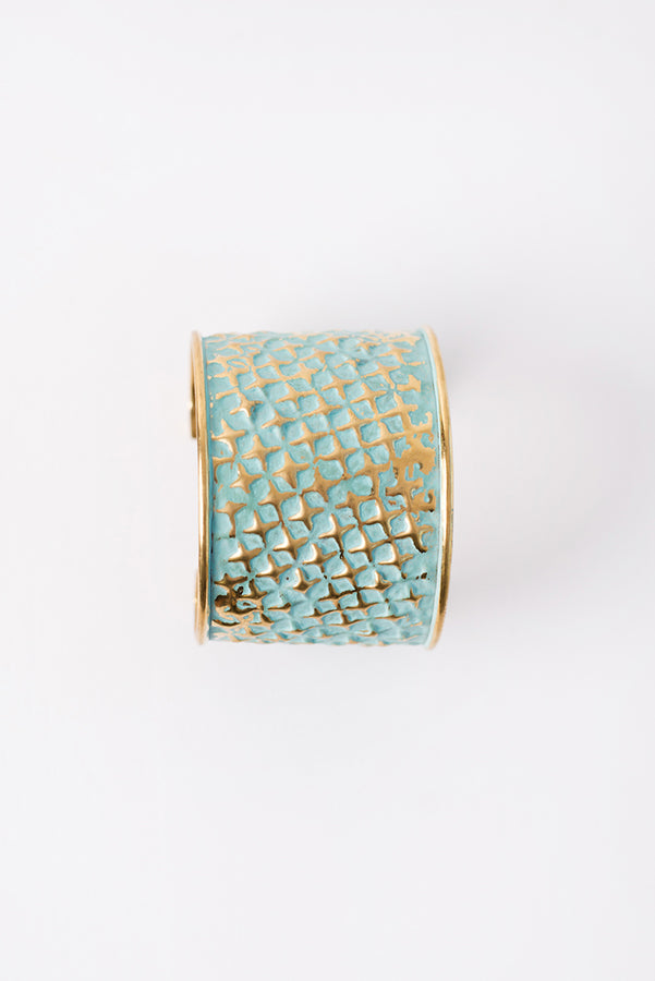 Keira Distressed Cuff (Gold) - NanaMacs