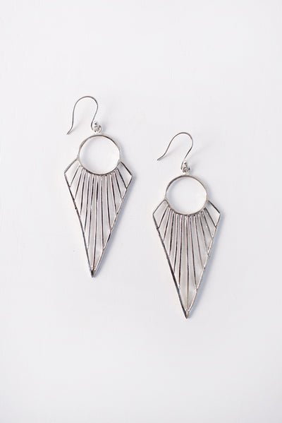 Lula Geometric Earrings (Silver)