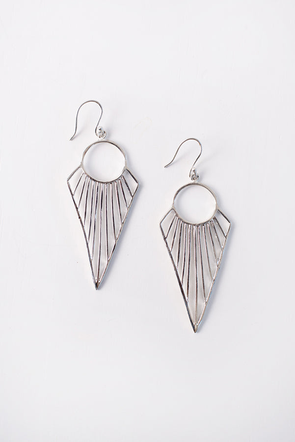 Lula Drop Earrings (Silver) - NanaMacs