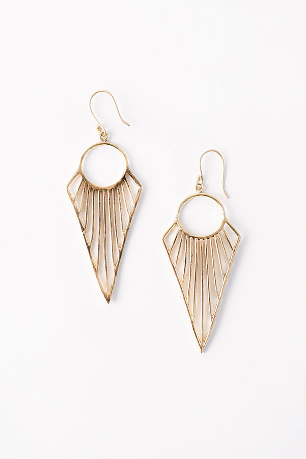 Lula Geometric Earrings (Gold)