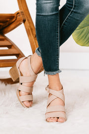 She's A Winner Strappy Heeled Sandals (Distressed Blush)