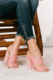 Picture Of Innocence Cut Out Heels (Pink Frost) - NanaMacs