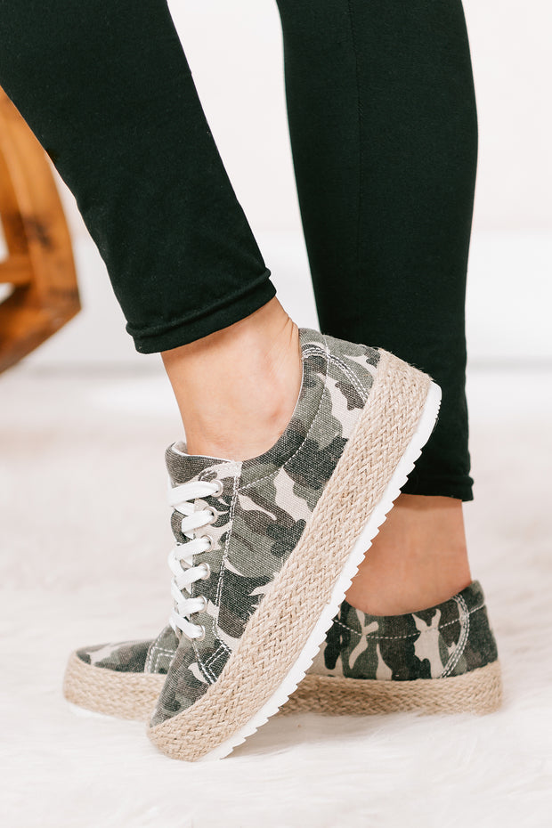 Wherever You Are Woven Canvas Sneakers (Camo) - NanaMacs