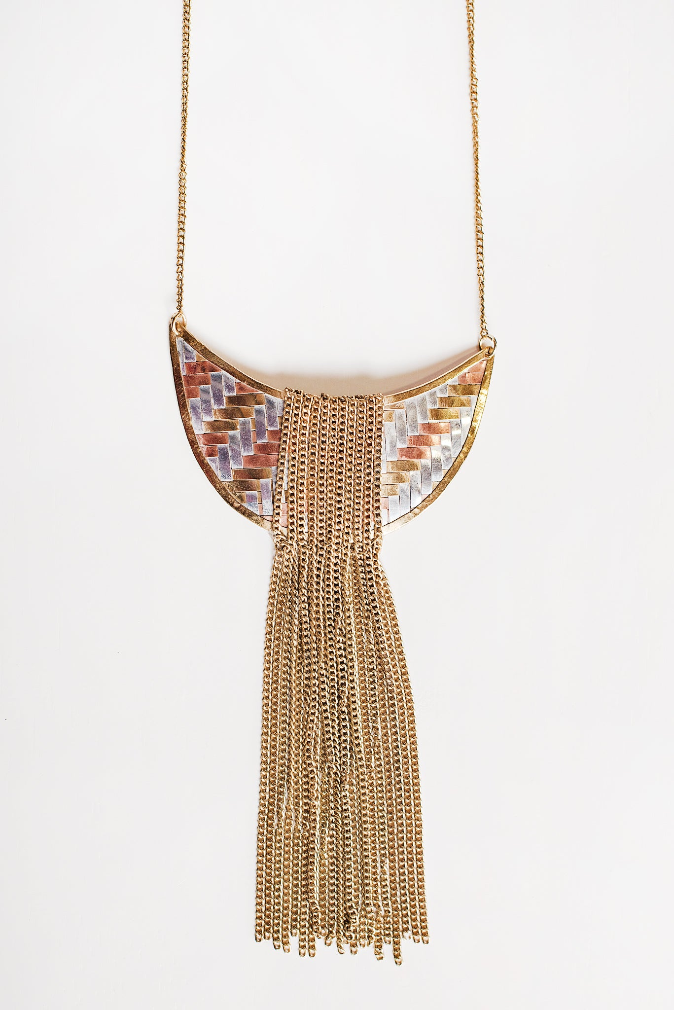 nanamacs boutique necklace products chain gold mika tassel