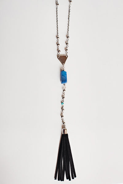 Augustine Tassel Necklace (Silver)