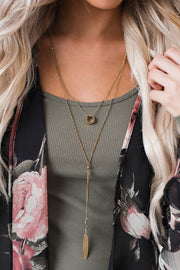 Quincy Multi Tier Geometric Necklace (Gold) - NanaMacs