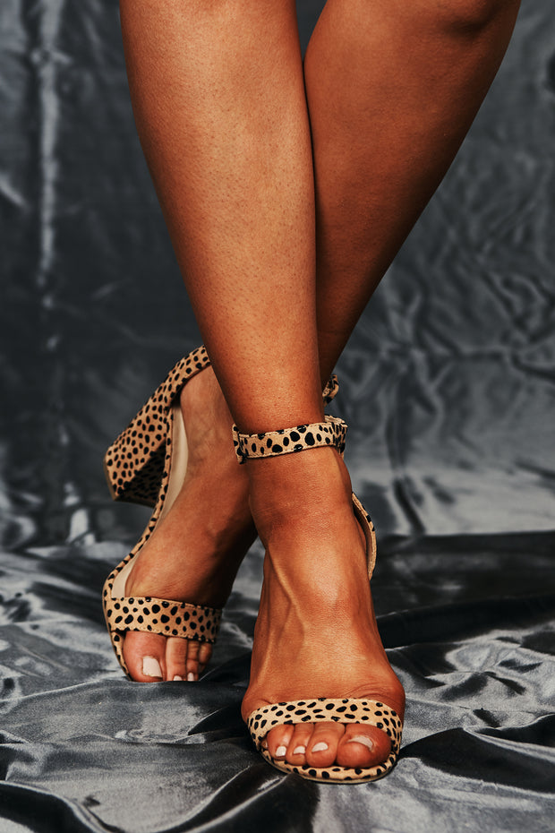 Meet Me On The Dance Floor Cheetah Print Heels (Natural Cheetah) - NanaMacs