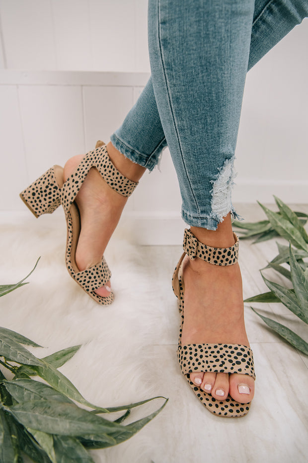Tame Me Not Spotted Heels (Beige) - NanaMacs