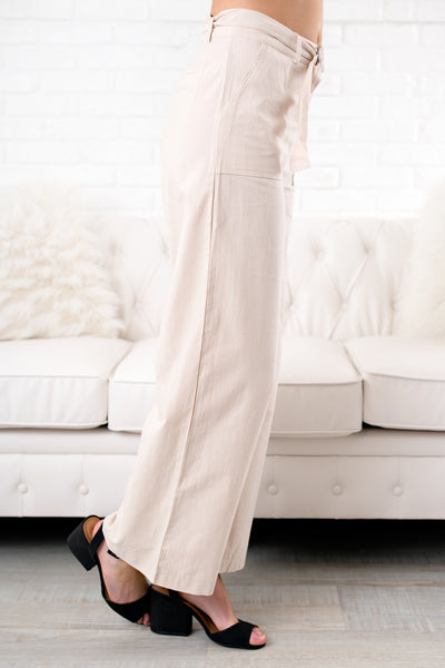 Other Half Linen Pants (Beige)