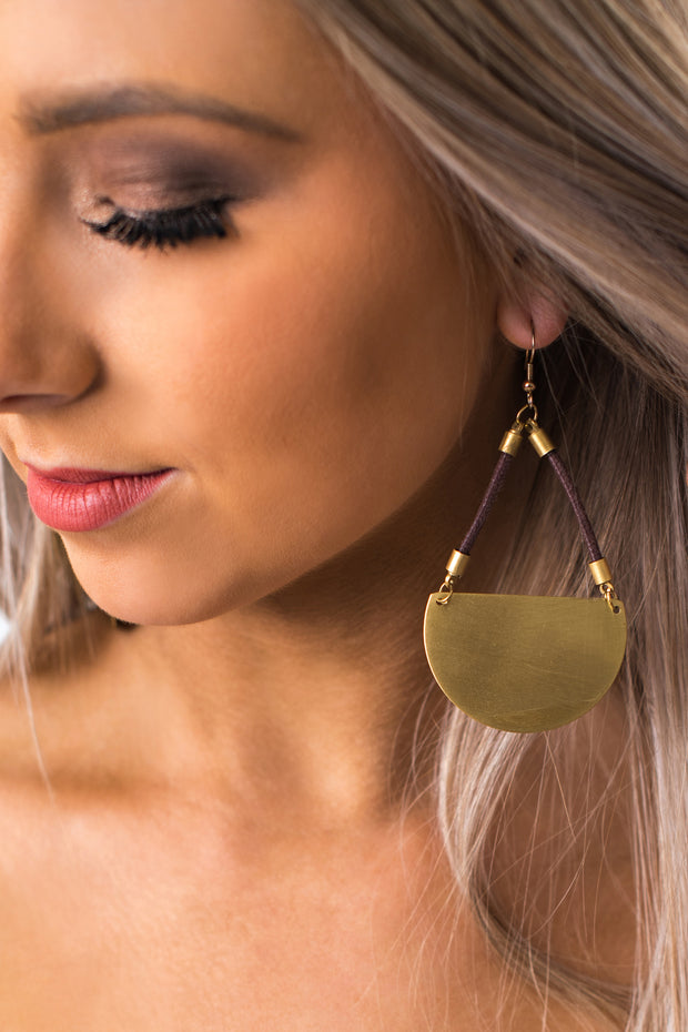 Kaydence Geometric Drop Earrings (Gold) - NanaMacs