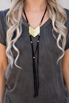 Cosima Suede Necklace (Gold/Black)
