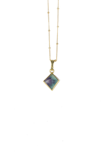Rainbow Fluorite Diamond