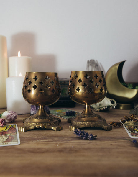 Brass Goblet Candle Holders