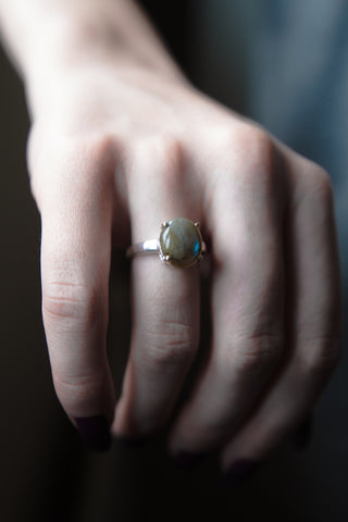 The Scrying Ring in Labradorite
