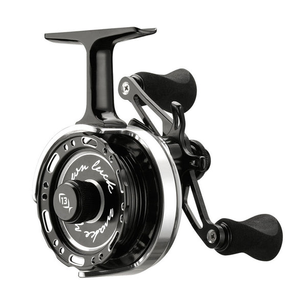 13 FISHING Black Betty Left Hand Inline Ice Reel (60612015-LH)