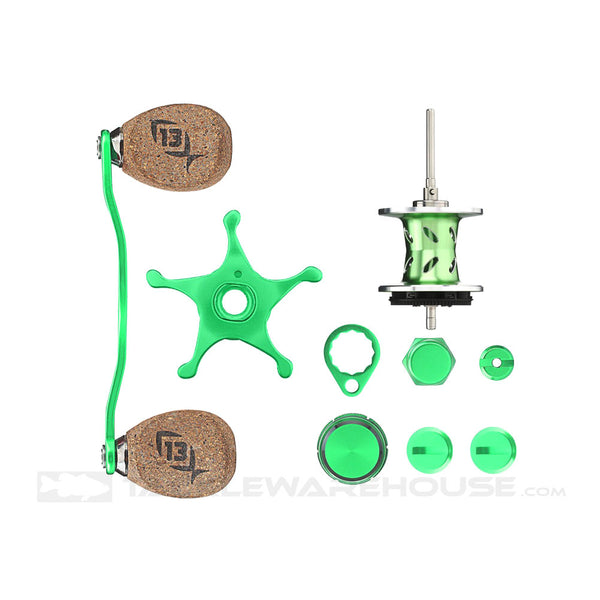 13 FISHING Green Machine Lime/Silver Reel Component Kit (TSKIT-7)