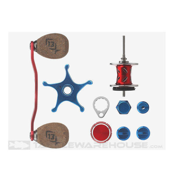 13 FISHING Patriot Red/Silver/Blue Reel Component Kit (TSKIT-PAT)