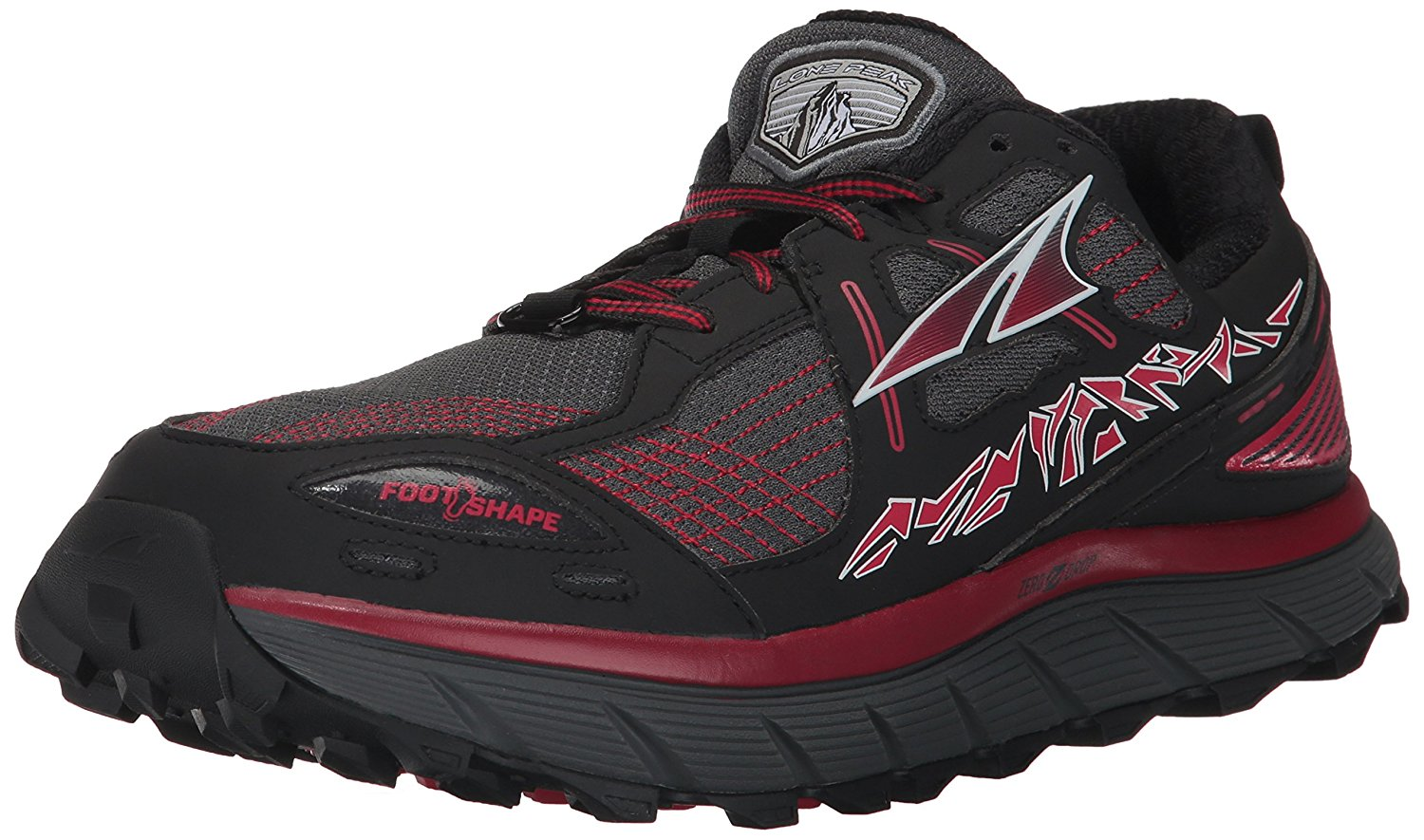ALTRA Mens Lone Peak 3.5 Red Trail Running Shoes (AFM1755F-3)