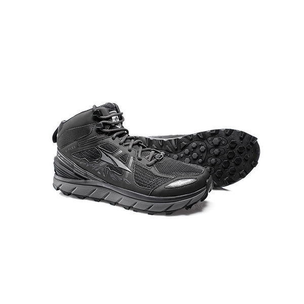 ALTRA Mens Lone Peak 3.5 Mid Mesh Black Trail Running Shoes (AFM1755H-6)
