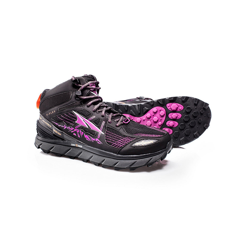 ALTRA Womens Lone Peak 3.5 Mid Mesh Purple-Orange Trail Running Shoes (AFW1755H-1)