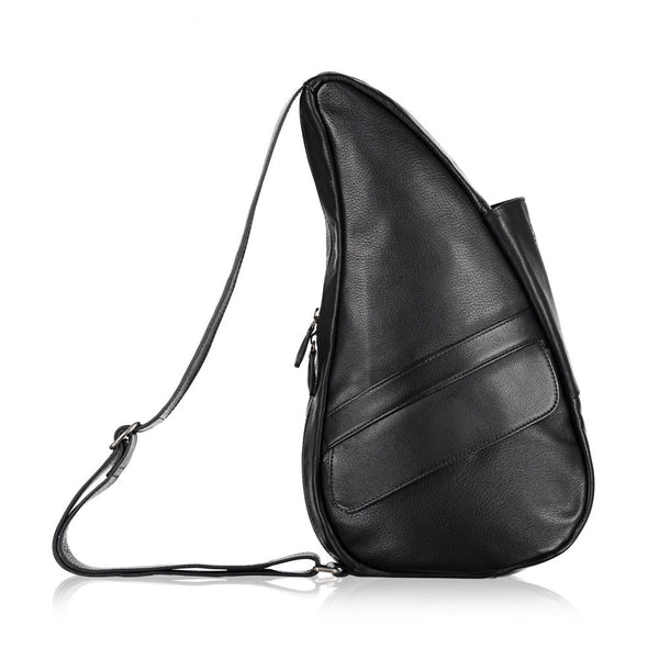 AMERIBAG 5103-BK Leather Small Black Healthy Back Bag