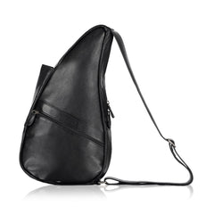 AMERIBAG Leather Small Black Healthy Back Bag (5103-BK)