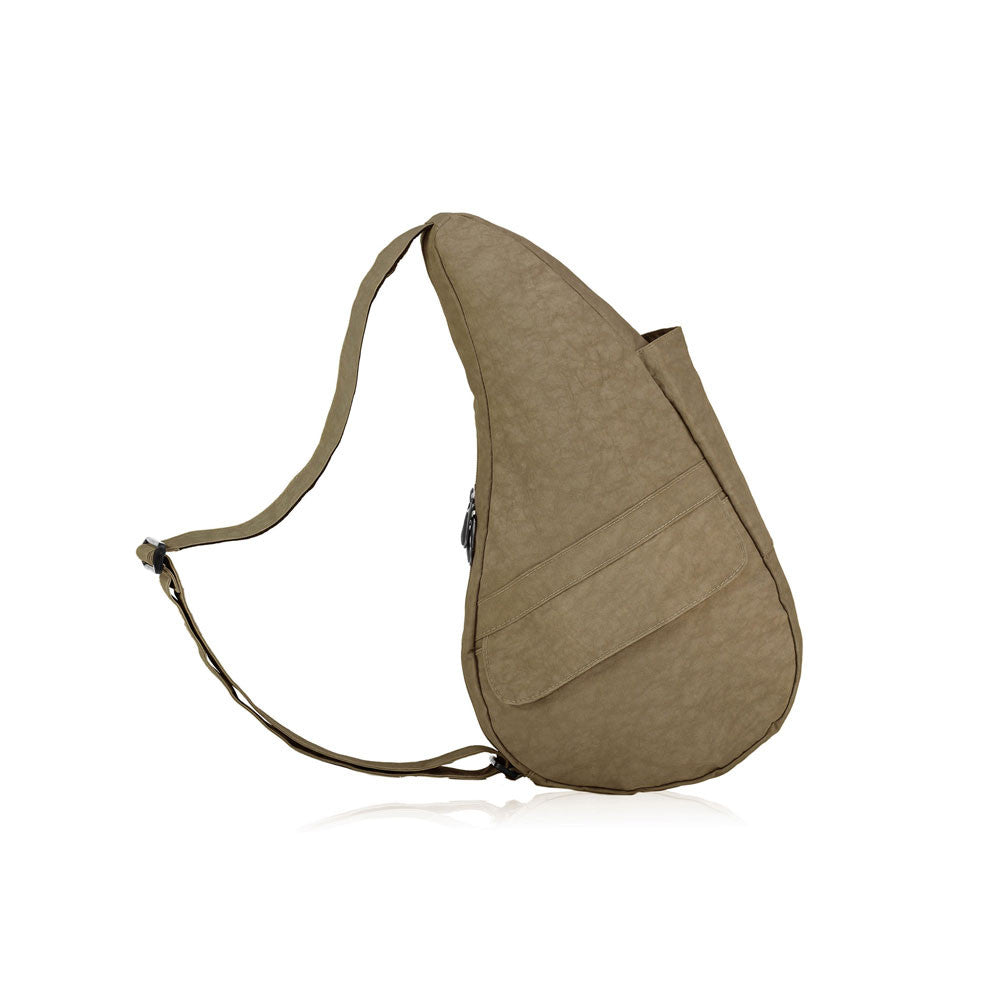 AMERIBAG Distressed Nylon Small Taupe Healthy Back Bag (6103-TP)