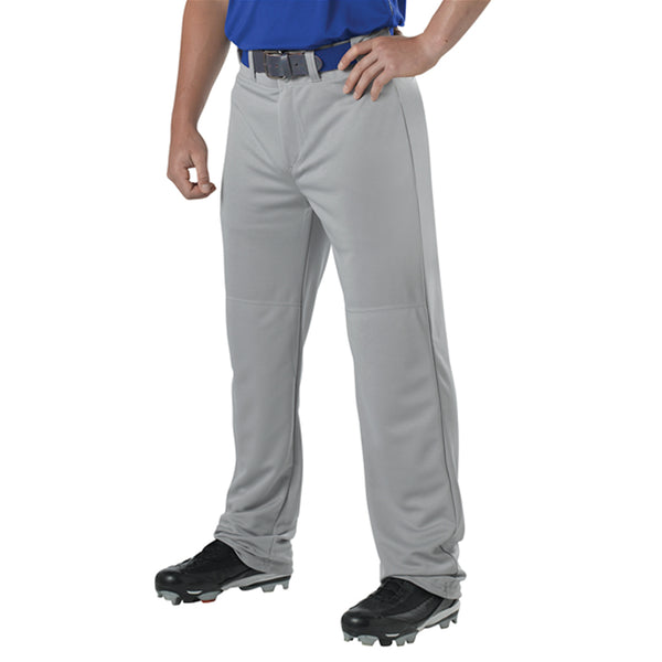 ALLESON ATHLETIC Youth Adjustable Inseam Gray Baseball Pant (605WAPY-GR)