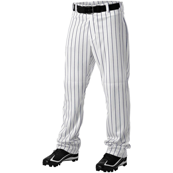 ALLESON ATHLETIC Adult Pinstripe White/Navy Baseball Pant (605WPN-WHNA)
