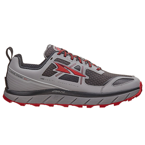 ALTRA Mens Lone Peak 3 Low Neo Gray/Red Running Shoes (A1653LOW-1)