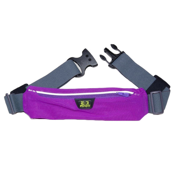 AMPHIPOD 234-20 AirFlow MicroStretch Plus with Silver Reflective Purple Sapphire Belt