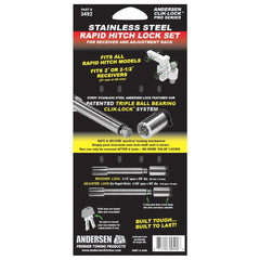 ANDERSEN Stainless Steel Lock Set for Rapid Hitch Only (3492)