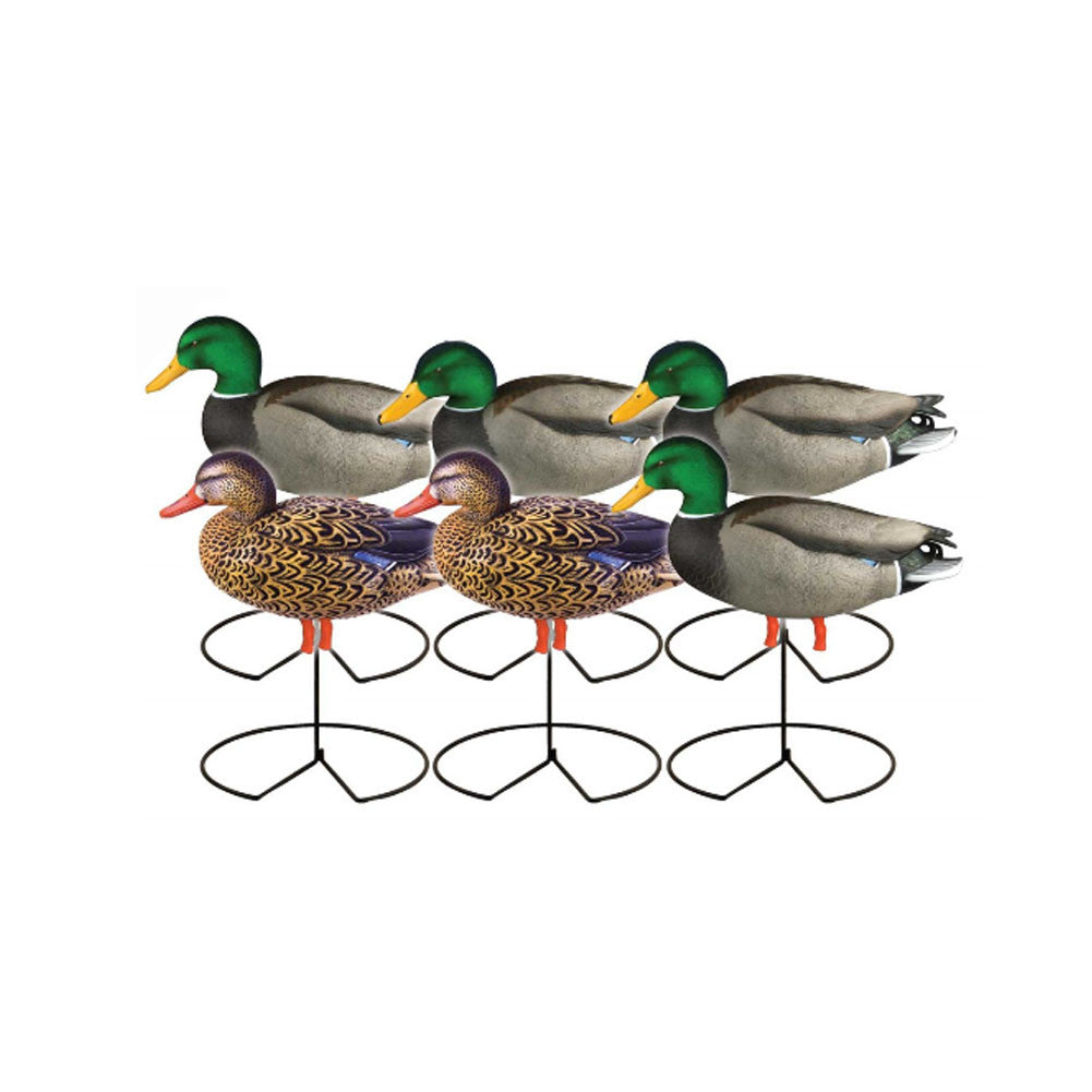 AVERY 6 Pack of Pro-Grade Full Body Mallard Active Decoys (72216)