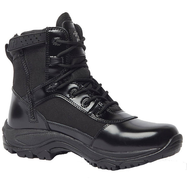 BELLEVILLE TR906Z 6in Hot Weather High Shine Side-Zip Black Boot