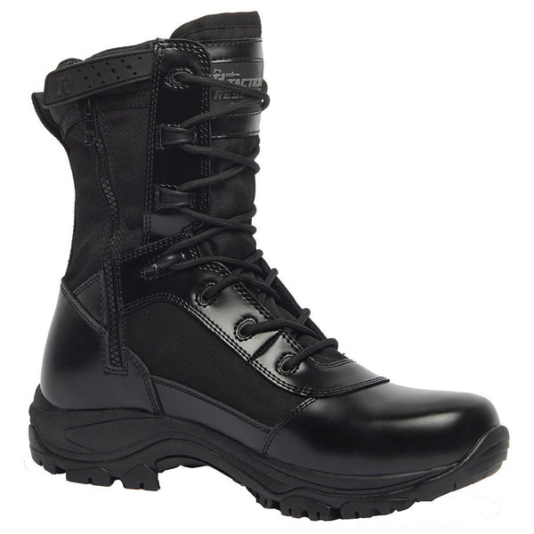 BELLEVILLE TR908ZWP 8in Hot Weather Waterproof High Shine Side-Zip Black Boot