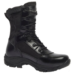 BELLEVILLE 8in Hot Weather Waterproof High Shine Side-Zip Black Boot (TR908ZWP)