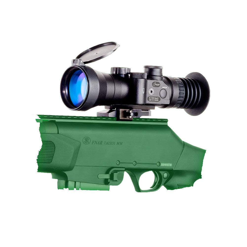 BERING OPTICS BE72730HDW D-730W 3.7x50 B&W Gen2+ High Performance Black Night Vision Sight