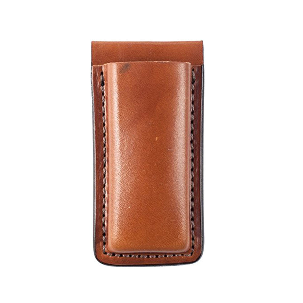 BIANCHI 20A Tan Leather Open Magazine Pouch (10734)