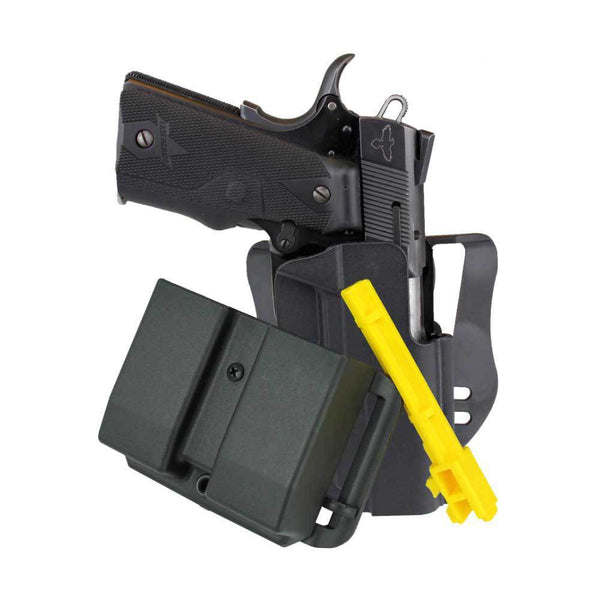 BLADE TECH INDUSTRIES HOLX0076RC1914BLKRH 4.25in 1911 RH Revolution Combo Pack Belt Holster