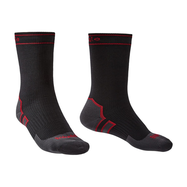 Bridgedale StormSock Heavyweight Boot Black/Red Socks (710076-845)