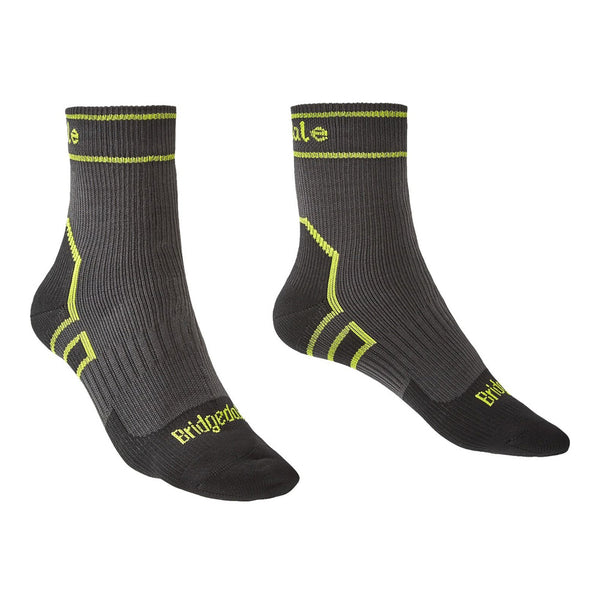 Bridgedale StormSock Lightweight Ankle Dark Grey/Lime Socks (710090-826)