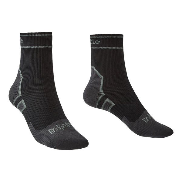 Bridgedale StormSock Lightweight Ankle Black/Mid Grey Socks (710090-845)