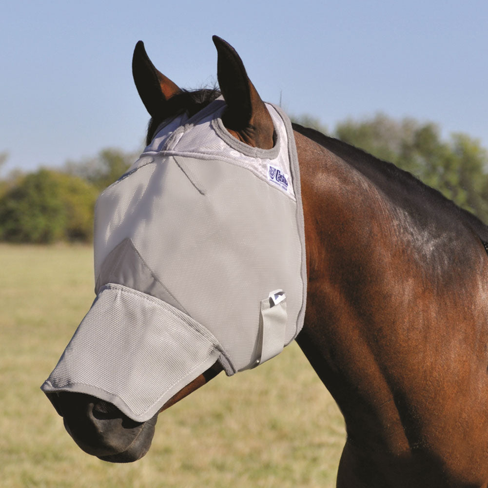 CASHEL Crusader Long Nose Weanling/Small Pony Fly Mask (CFMWL)