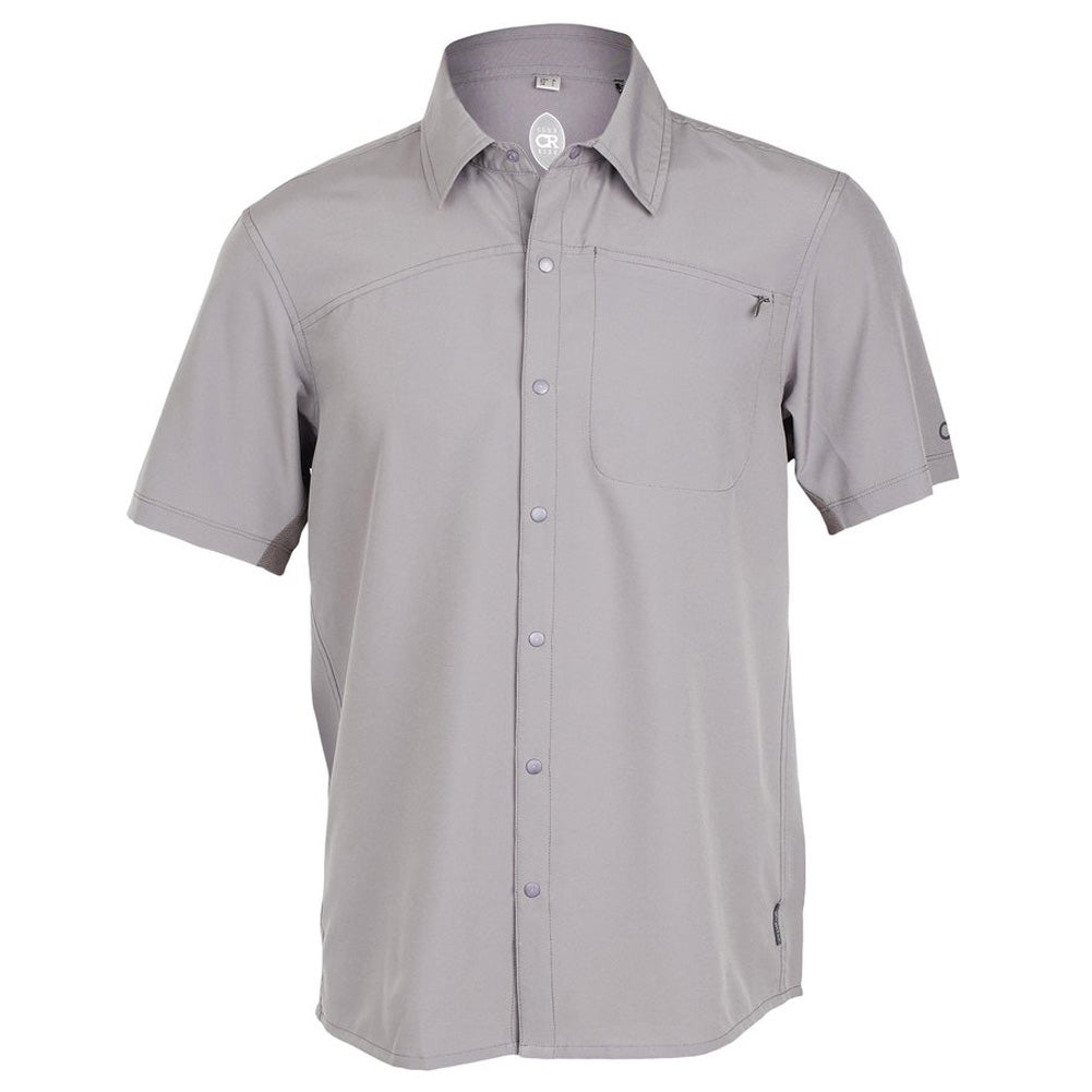 CLUB RIDE Mens Protocol Short Sleeve Storm Grey Top (MJPC601SG)