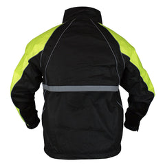 COMPASS 360 RoadHog T50 Reflective Hi-Vis Lime/Black Riding Jacket (RT23322-5510)