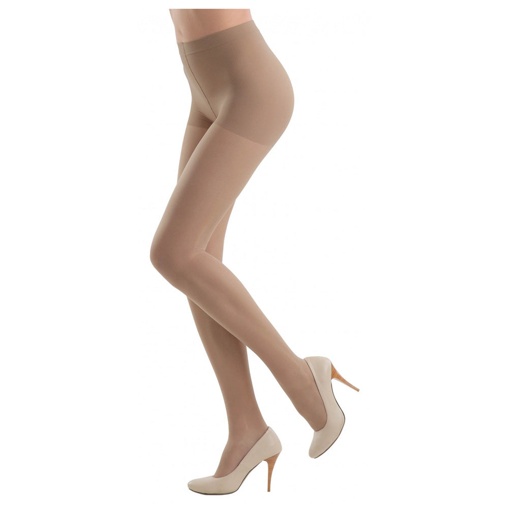 Conte Women's Nude Sheer Compression Pantyhose Tights with Control Top - Active 20 Denier