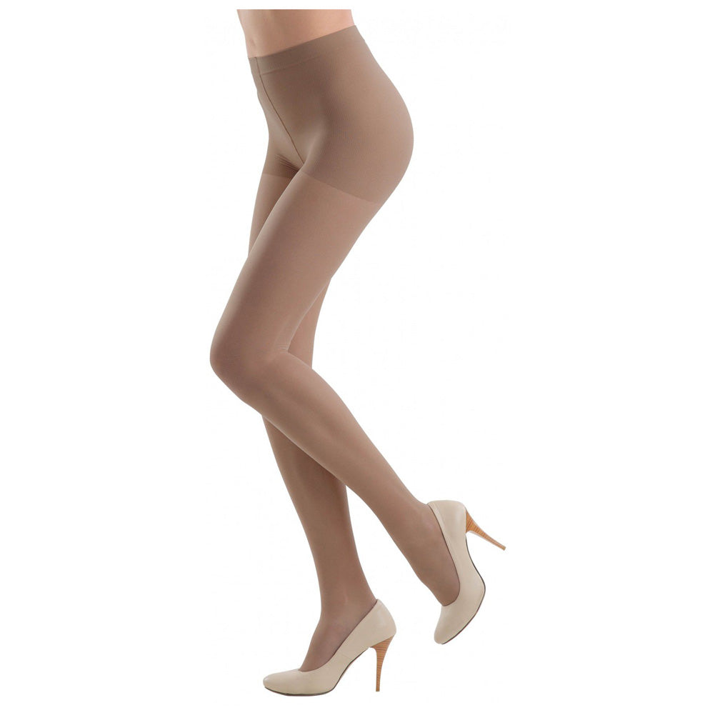 Conte Women's Brown High Waisted Compression Pantyhose Tights with Control Top - Active 40 Denier